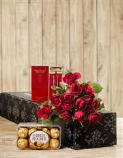 Picture of Red Door, Chocs and Red Roses!