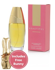 Perfumes: Estee Lauder Beautiful 75ml with Free Bunny!